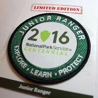 Junior Ranger Patch Official Centennial National Park 2016 NPS Parks Arrowhead