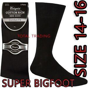 Mens Socks Super size Bigfoot big feet foot shoe size 14 15 16  Cotton Rich