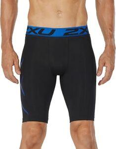 2XU Accelerate Mens Compression Shorts Black Baselayer Short Tights Gym Training