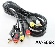 6ft S-Video (MiniDIN 4-pin) Plug w/ Composite 2-RCA Plug Audio Cable, AV-S06R