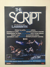 THE SCRIPT 2015 Australian Tour Poster A2 No Sound Without Silence #3 ***NEW***