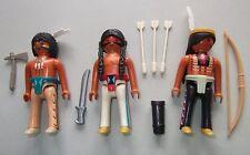 34225 Indios 3u playmobil,western,indian,warrior,guerrero,6272