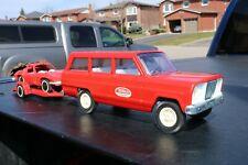 Tonka Toys No 80 Jeep Wagoneer, Corvette and trailer - pressed steel