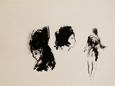PEOPLE 1 original art drawing ink and on paper 24X32 cm artist FREDERIC BELAUBRE