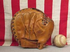 Vintage 1940s JC Higgins Leather Baseball Glove Catchers Mitt Bob Scheffing 1625