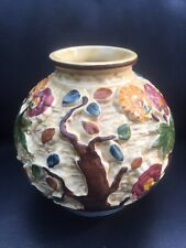 Indian Tree Handpainted H J Wood Staffordshire England textured decorated pot