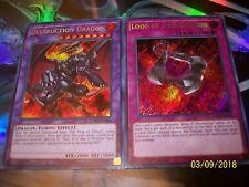 Destruction Dragon Secret Rare + Loop of Destruction Secret Rare LCKC Yu-Gi-Oh!