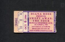 Original 1984 Diana Ross Concert Ticket Buffalo Ny Supremes Swept Away