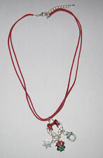 Charm Necklaces Double Adjustable Cord Nice Package Holiday Pendant XMAS NWT