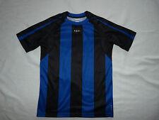 KIPSTA - T-shirt MAILLOT de FOOT bleu et noir  GARCON TAILLE 12 ANS
