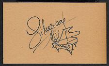Liberace Autograph Reprint On Genuine Original Period 1950s 3x5 Card