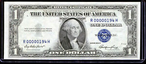 1935-E $1 Silver Certificate Fancy LOW Serial #R00000194H Uncirculated