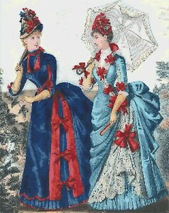 VICTORIAN LADIES # 1 - COUNTED CROSS STITCH CHART