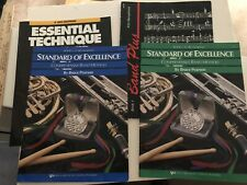 Free Ship! Set of 4 instructional music books for Eb Alto Saxophone for Band