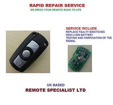 BMW 1 Series  E87 E90 E91 E92 Remote Key Refurbish Repair Service Faulty  Fix