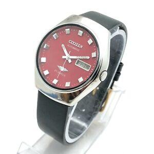 Vintage Citizen 8200 Day Date 35mm Automatic 21-Jewels Wrist Watch B2482