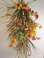 "Door/Wall Decor Swag 24""  Fall Floral"