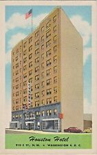 Houston Hotel in Washington, D.C. at 910 E Street N.W. - 1955 Postcard View