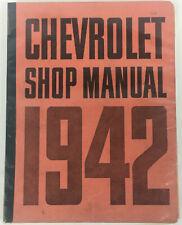 1942 Chevrolet Shop Manual Original Super Service Very Good Condition