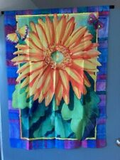 """Decorative Garden Flag Large 40"""" x 28"""" Sunflower and Butterflies"""