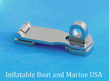"Boat Swivel Eye Locking Hasp latch- Hardware- 3"" Marine 316 Stainless steel"