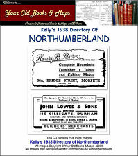 Northumberland Directory 1938 Kellys CDROM