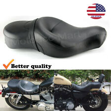 For Chopper Harley Sportster Iron 883 Driver Passenger Seat 2 Two Up 2004-up