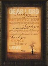 FAMILY PRAYER by Marla Rae 17x23 FRAMED PRINT Sign Thank You For Our Family