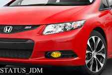 2012 Honda Civic Si Coupe Yellow Fog Light Overlays Tint FB2 Spoon Megen hfp JDM