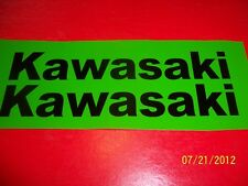 "1-Set of 2 Kawasaki Mini Bike / Motorcycle Gas Tank Decal Stickers 1""X 7"" (New)"