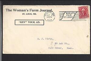 """SAINT LOUIS, MISSOURI 1903 #301 COVER ADVT FOR """" THE WOMAN'S FARM JOURNAL""""."""