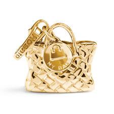 ROSATO Gioielli ciondolo argento borsetta charm MY BAGS BA006 dorata
