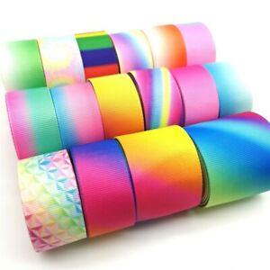 3 Yard Rainbow Ribbon Gay Pride LGBT Multicolor Width Stripe 10mm Home Decor NEW