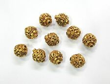 Vintage antique handmade 20K Gold jewelry beads set of 10 pieces india