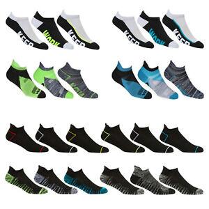 Mens Cushioned Heel Toe Trainer Socks Patterned Sports Gym Yoga Liner Size 6-11