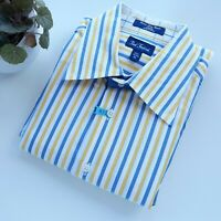 Paul Fredrick Mens XL Long Sleeve Button Down Cotton Striped Dress Shirt EUC