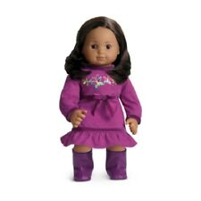 American Girl Bitty Twins BUTTERFLY DRESS boots purple no doll baby