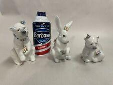 Lladro Lot Two Polar Bears And Bunny