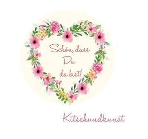 Aufkleber / Hochzeit / Gastgeschenk / Taufe Schön, dass Herzform  4cm A 4= 24
