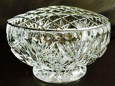 "Superba Vintage Grande 6""/16cm Heavy inglese CRYSTAL ROSE Bowl in perfetto ordine"