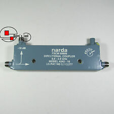 1×USED narda 4242-10 0.5-2GHz 10dB SMA Broadband Directional Coupler