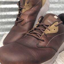 Hi -Tech Leather & Suede Mens Vibram Walk-Lite Brown Size 13 Lace Up Breathable