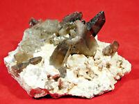 A BIG! 100% Natural Smoky Quartz Crystal Cluster on Microcline! Colorado 677gr