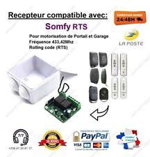 Récepteur radio compatible Somfy RTS 433,42Mhz pour Portail et Garage