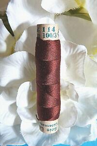 """1067B / Superb Coil Wire Silk Gutermann Laska """" Brown Mahogany """" N° 116"""