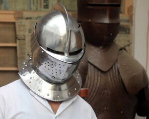 1MM Medieval Combat Close Helmet Bettlefield/Halloween Costume Cosplay A33