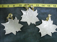 Pottery Ceramic? Wall Hanging Leaves Painted Decoration