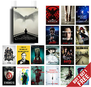 BEST TV SERIES OF 2015 POSTER OPTIONS A3 / A4 Tv Shows Wall Art Print Home Decor