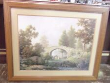"Vintage Dalhart Windberg ""Spanning the Stream of Time"" Framed Print Picture"