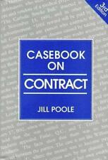 CASEBOOK ON CONTRACT, JILL POOLE, Used; Good Book